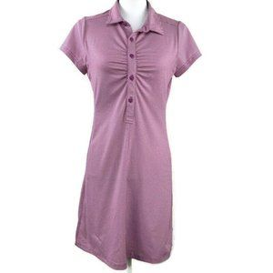 Prana Ruched Collared Polo Shirt Dress